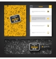 template with hand drawn doodles Dubai vector image