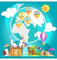 Travelling Attributes With Glove And Marked vector image vector image