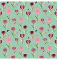 Tulips seamless pattern background floral designed