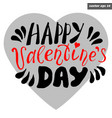 valentine lettering vector image vector image