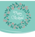 Vintage card with Christmas wreath vector image vector image