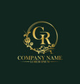 vintage luxury floral logo badge vector image