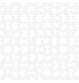 White jigsaw pieces seamless pattern vector image vector image