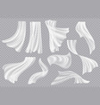 window curtains flowing blank fabric with folds vector image