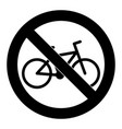 do not ride bike symbol sign badge vector image