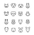 different animals icons set pet vector image