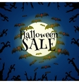 Halloween sale offer design template vector image