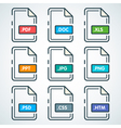 Documents Type Icons 2 vector image