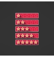 five stars rating design elements in modern vector image