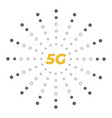5g wireless mobile internet standard flat emblem vector image