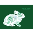 abstract blue and green leaves bunny rabbit vector image vector image