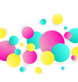 abstract circles background colorful circles on vector image vector image