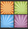 abstract sunbeams backgrounds set vector image