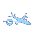 airplane flight plane previous transport travel vector image vector image