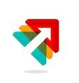 arrow triangle design element business logo vector image vector image