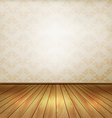 Background with old wall and a wooden floor vector image vector image