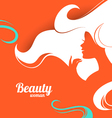 Beautiful fashion woman silhouette Paper design vector image vector image