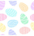 beautiful seamless pattern of doodle easter eggs vector image vector image