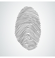 black isolated fingerprint on white vector image