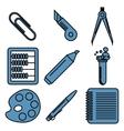 Black school goods linear icons Part 2