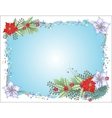 Blue Christmas Background with Confetti vector image