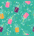 bright seamless pattern with smoothies vector image vector image
