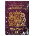 british passport vector image