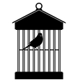 Cage with birds-3 vector image vector image