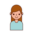cartoon cute girl smile character female vector image