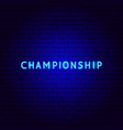 championship neon text vector image
