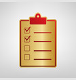 checklist sign red icon on vector image vector image