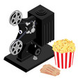 cinema movie concept retro cinema projector vector image