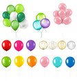 colorful balloon set isolated transparent vector image vector image