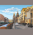 colorful hand drawing st petersburg 4 vector image vector image