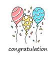 congratulation balloon vector image
