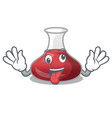 crazy red wine decanter isolated on mascot vector image vector image