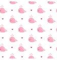 Cute background with cartoon pink whales