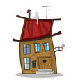 cute cartoon funny little fabulous house vector image
