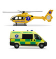 emergency medical transport helicopter air vector image vector image