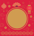empty banner with asian festive ornament vector image vector image