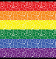 Gay pride flag with a seamless tiled pattern in it vector image
