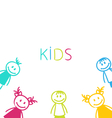 Hand-drawn Cute Funny Kids vector image vector image