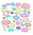 handwriting set of speech bubbles vector image vector image