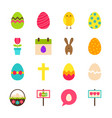 happy easter objects vector image vector image