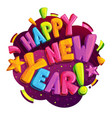 happy new year logo vector image