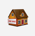 house for sale vector image vector image