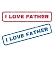 I Love Father Rubber Stamps vector image vector image