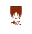 lady portrait for your hair and beauty salon vector image vector image