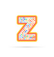 letter z with dots logo design isolated on white vector image vector image