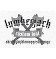 Lumberjack custom gothic font set vector image